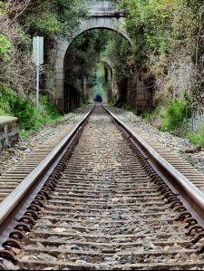 Tunel en la vía férrea (FEVE) Ferrol - Ortigueira